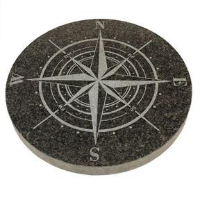 Bild på Kompassross 32 cm mörkgrå