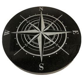 Bild på Kompassross 32 cm svart