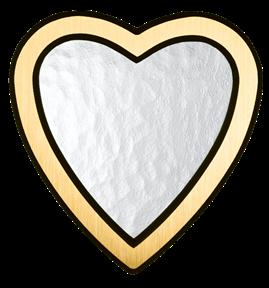 Bild på Lyktram hjärta blank