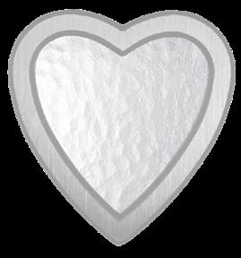 Bild på Lyktram hjärta förkromad