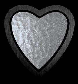 Bild på Lyktram hjärta svart