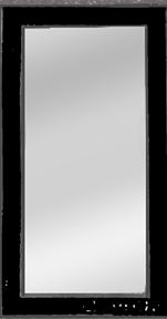 Bild på Lyktram rektangulär svart